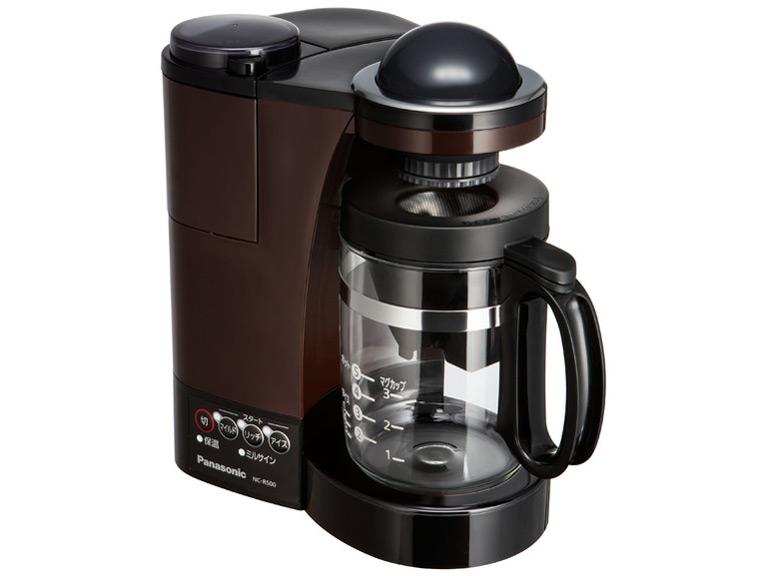 【パナソニック】ミル付き 浄水 コーヒーメーカー ステンレスフィルター付き ブラウン NC-R500-T