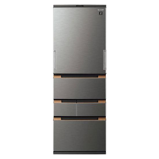 【標準設置対応付】シャープ   冷蔵庫 (457L・どっちもドア) 5ドア ダークメタル  SJ-MW46H-H