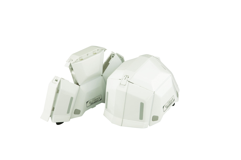 【トーヨーセフティ】折りたたみヘルメット 約20.1×26.3×高さ14.5cm(頭回り約52~61cmまで適応)
