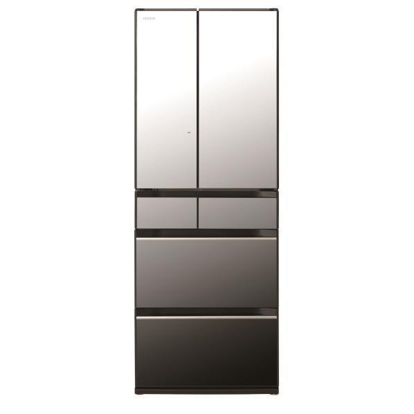 【標準設置対応付】日立冷蔵庫(498L・フレンチドア) 6ドア クリスタルミラーR-KX50N X