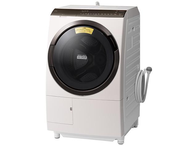 【標準設置対応付】日立 ドラム式洗濯乾燥機 ビッグドラム 洗濯11kg/乾燥6kg 左開き ホワイト BD-SV110FL W
