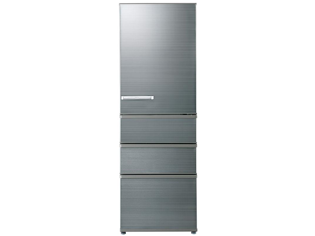 【標準設置対応付】AQUA  冷蔵庫(375L・右開き) チタニウムシルバー  AQR-SV38K(S)