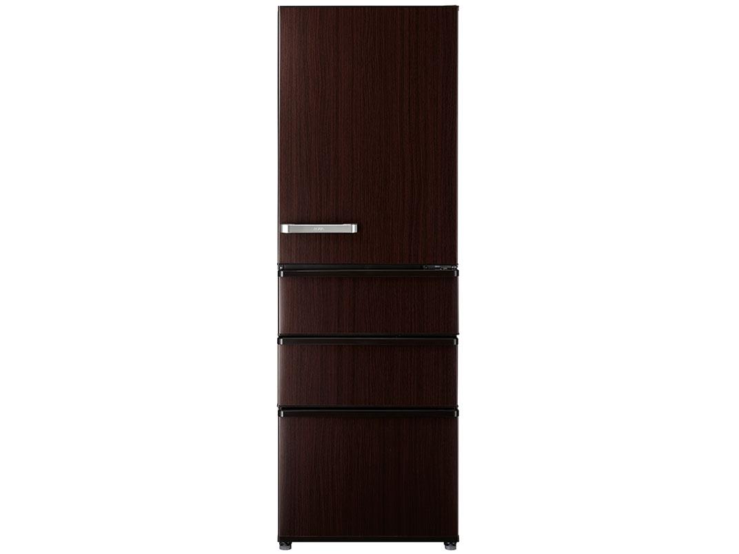 【標準設置対応付】AQUA  冷蔵庫(375L・右開き) ダークウッドブラウン  AQR-SV38K(T)