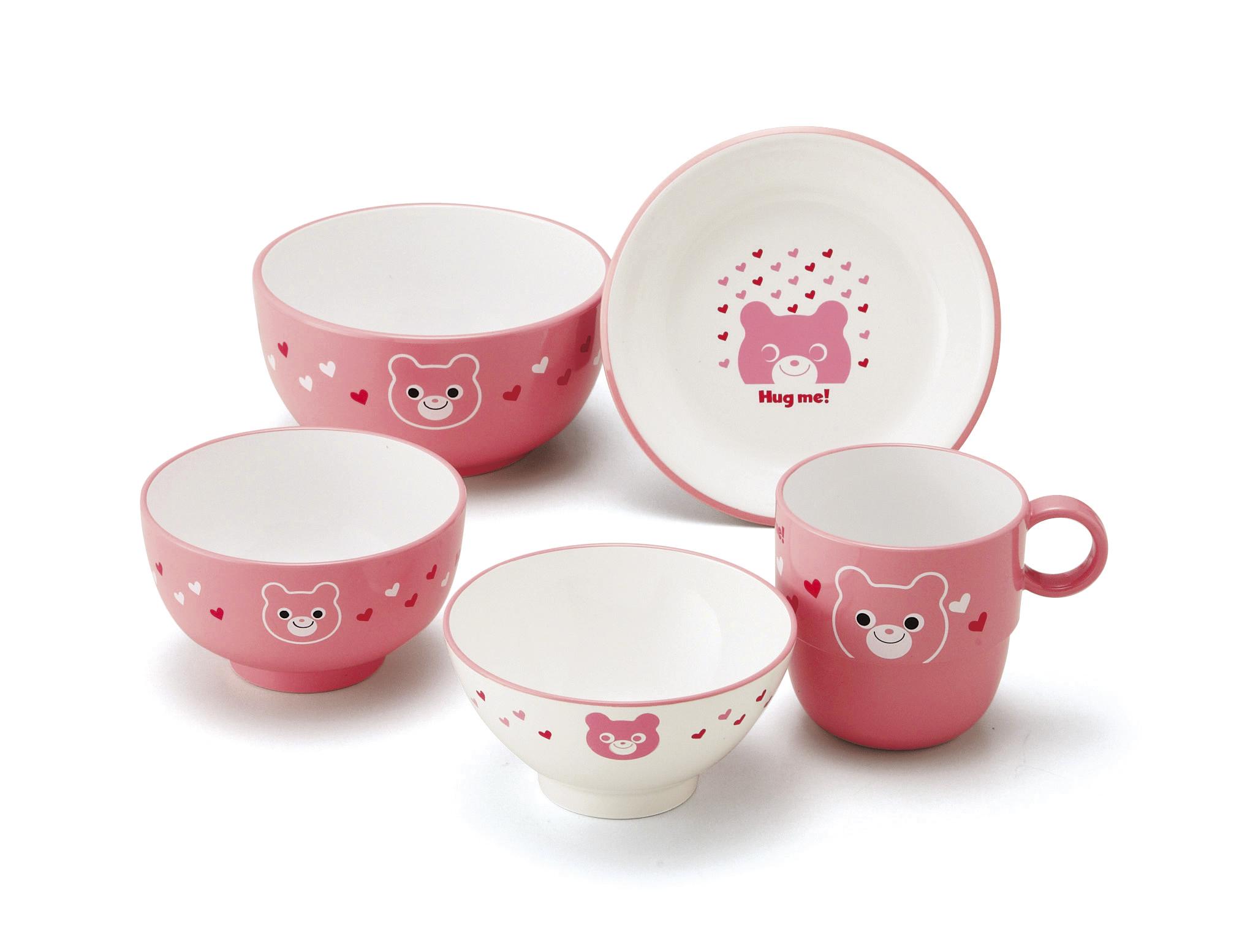 【ミタニ】キッズ食器セット ピンク