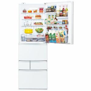【標準設置対応付】東芝  冷蔵庫(501L・右開き) 5ドア VEGETA クリアグレインホワイト GR-T500GZ(UW)
