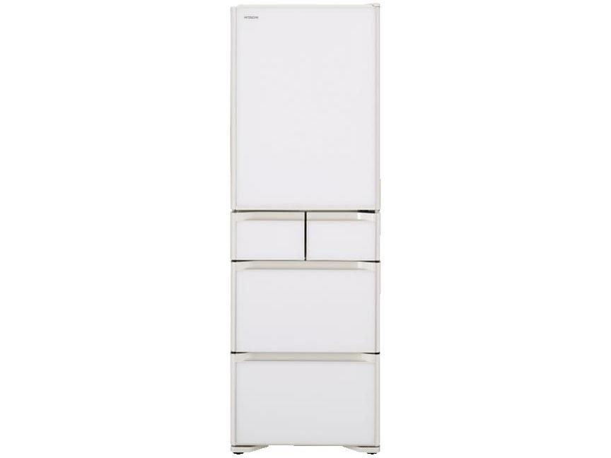 【標準設置対応付】日立 R-S40RL XW 冷蔵庫 (401L・左開き) 5ドア クリスタルホワイト