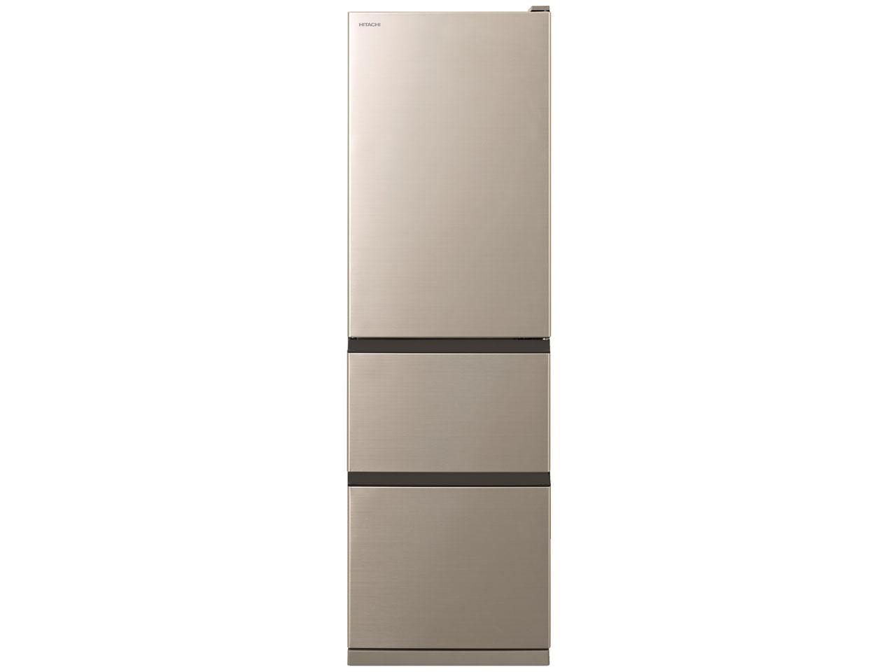 【標準設置対応付】日立 R-S40R XN 冷蔵庫 (401L・右開き) 5ドア クリスタルシャンパン