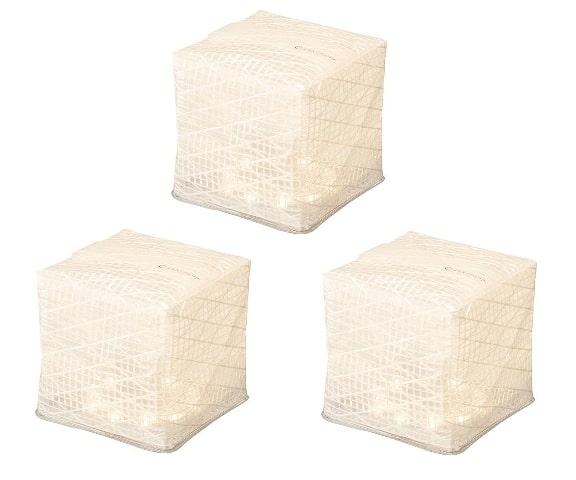折りたたみ式ソーラーランタン「キャリー・ザ・サン」ウォームライト ホワイトベルト ミディアム3個セット