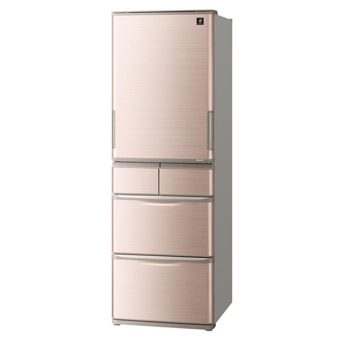 【標準設置対応付】シャープ SJ-X414H-T プラズマクラスター冷蔵庫 (412L・どっちもドア) 5ドア ブラウン系