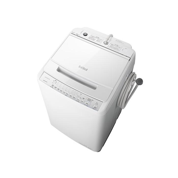【標準設置対応付】日立 BW-V80G W 全自動洗濯機 ビートウォッシュ 洗濯8kg ホワイト