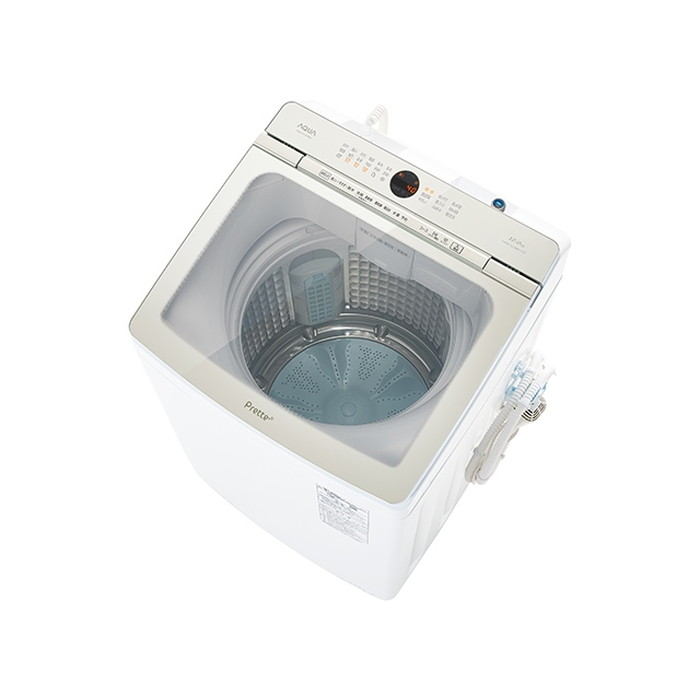【標準設置対応付】AQUA AQW-VA12M(W) Prette プレッテ 簡易乾燥機能付き洗濯機 12.0kg