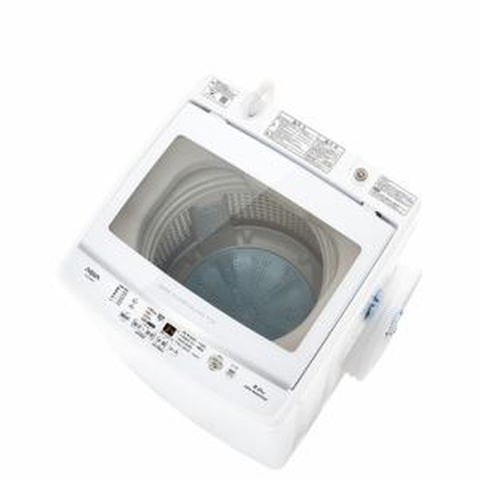 【標準設置対応付】AQUA  AQW-V8M(W) 簡易乾燥機能付き洗濯機 8.0kg
