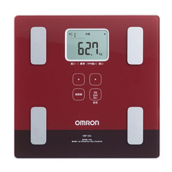 【オムロン】体重体組成計 カラダスキャン 約幅28.5×奥28×高さ2.8cm レッド
