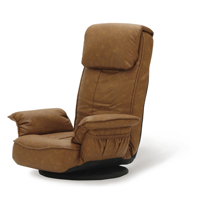 肘付回転座椅子 キャメル