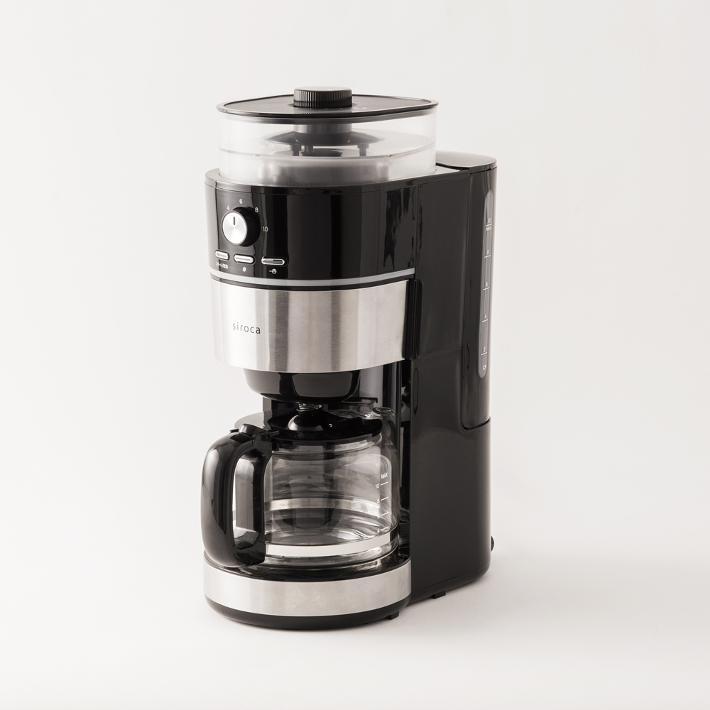【siroca】 10杯用コーン式全自動コーヒーメーカーSC-10C151
