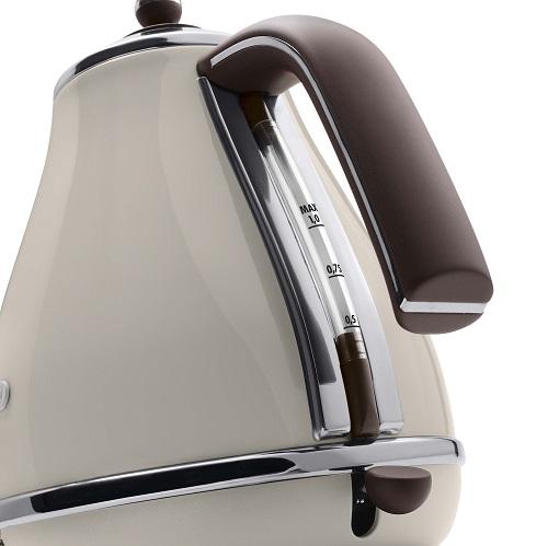 【デロンギ】アイコナ・ヴィンテージ コレクション 電気ケトル 幅210×奥165×高さ235mm ドルチェベージュ