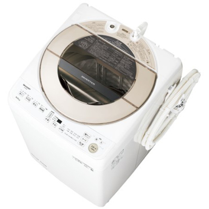 【標準設置対応付】シャープ ES-GV9F-N 全自動洗濯機 9kg ゴールド系