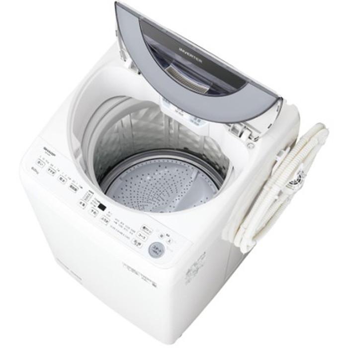 【標準設置対応付】シャープ ES-GV8F-S 全自動洗濯機 8kg シルバー系