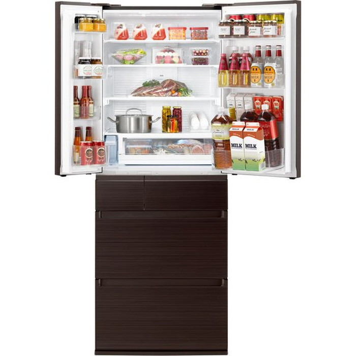 【標準設置対応付】パナソニックNR-F557HPX-T IoT対応冷蔵庫550L・フレンチドア6ドア  アルベロダークブラウン
