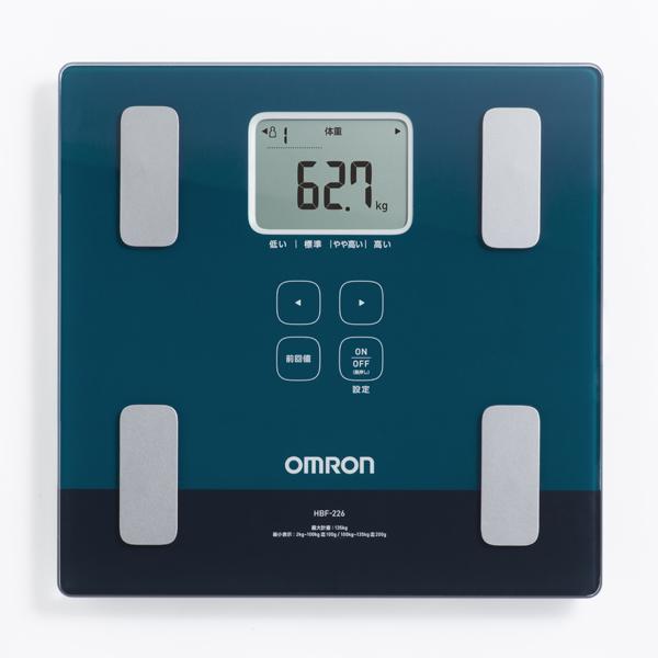 【オムロン】体重体組成計 カラダスキャン 約幅28.5×奥28×高さ2.8cm グリーン
