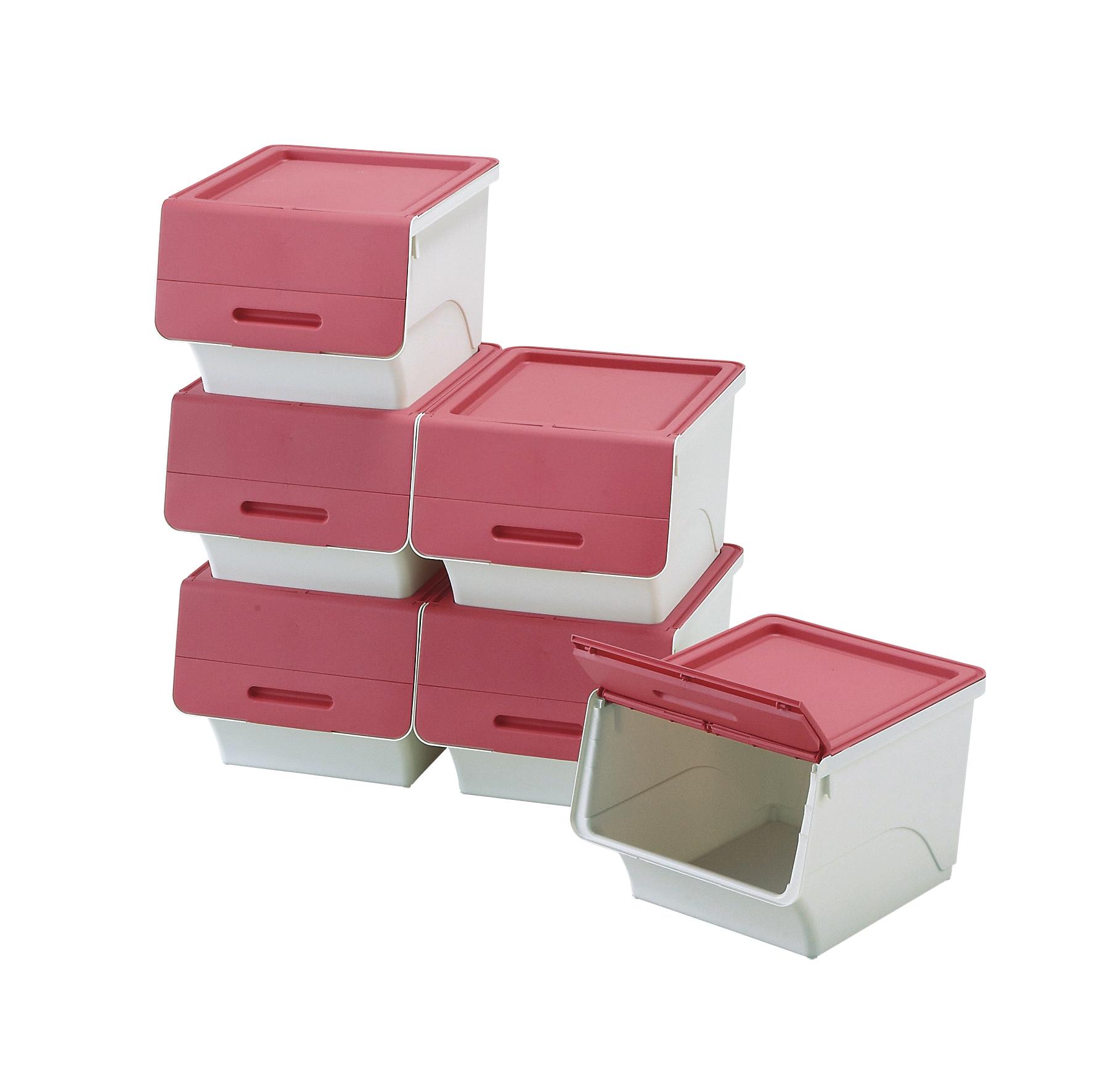 前開きボックス6個セット ピンク