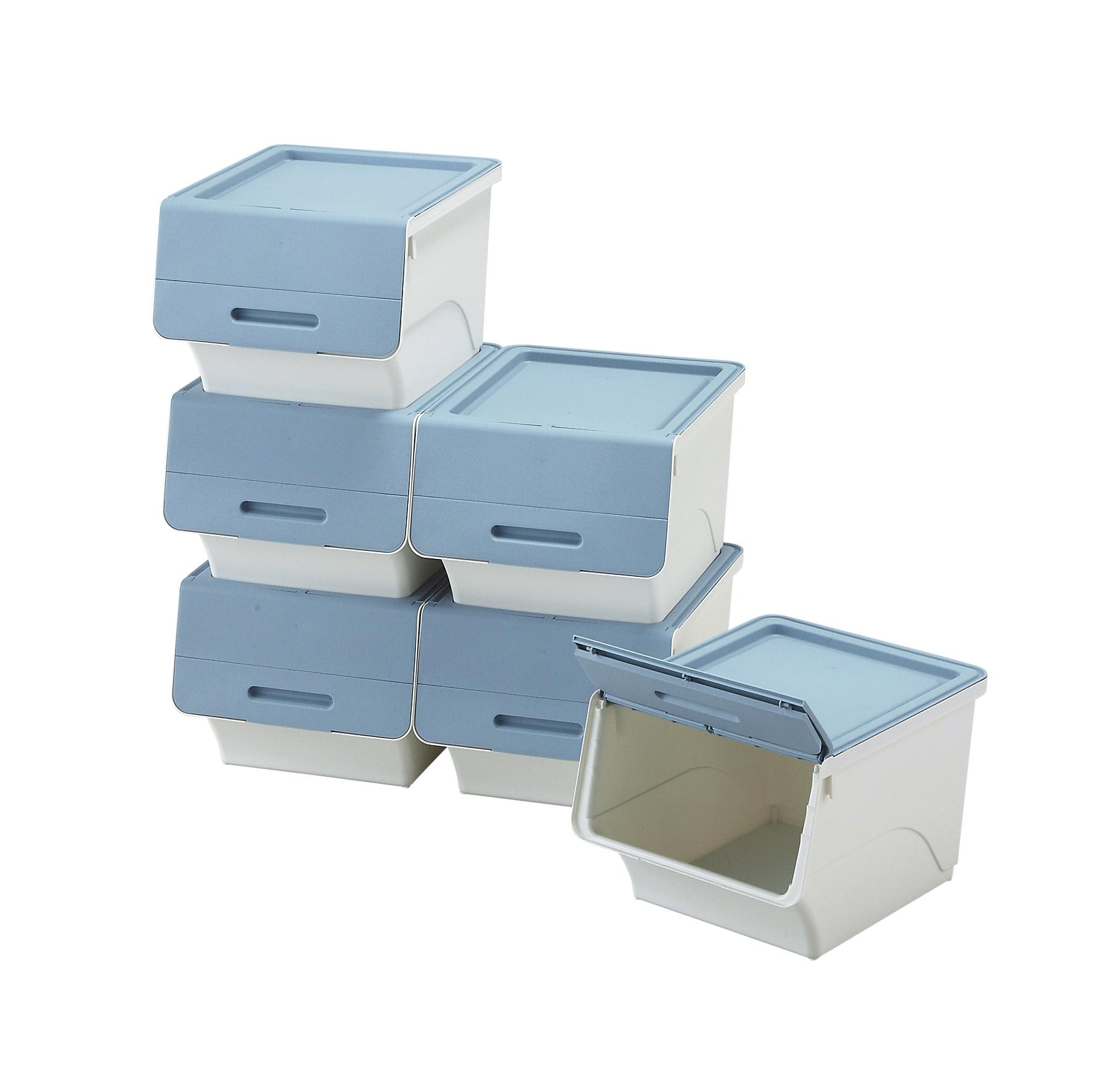 前開きボックス6個セット ブルー