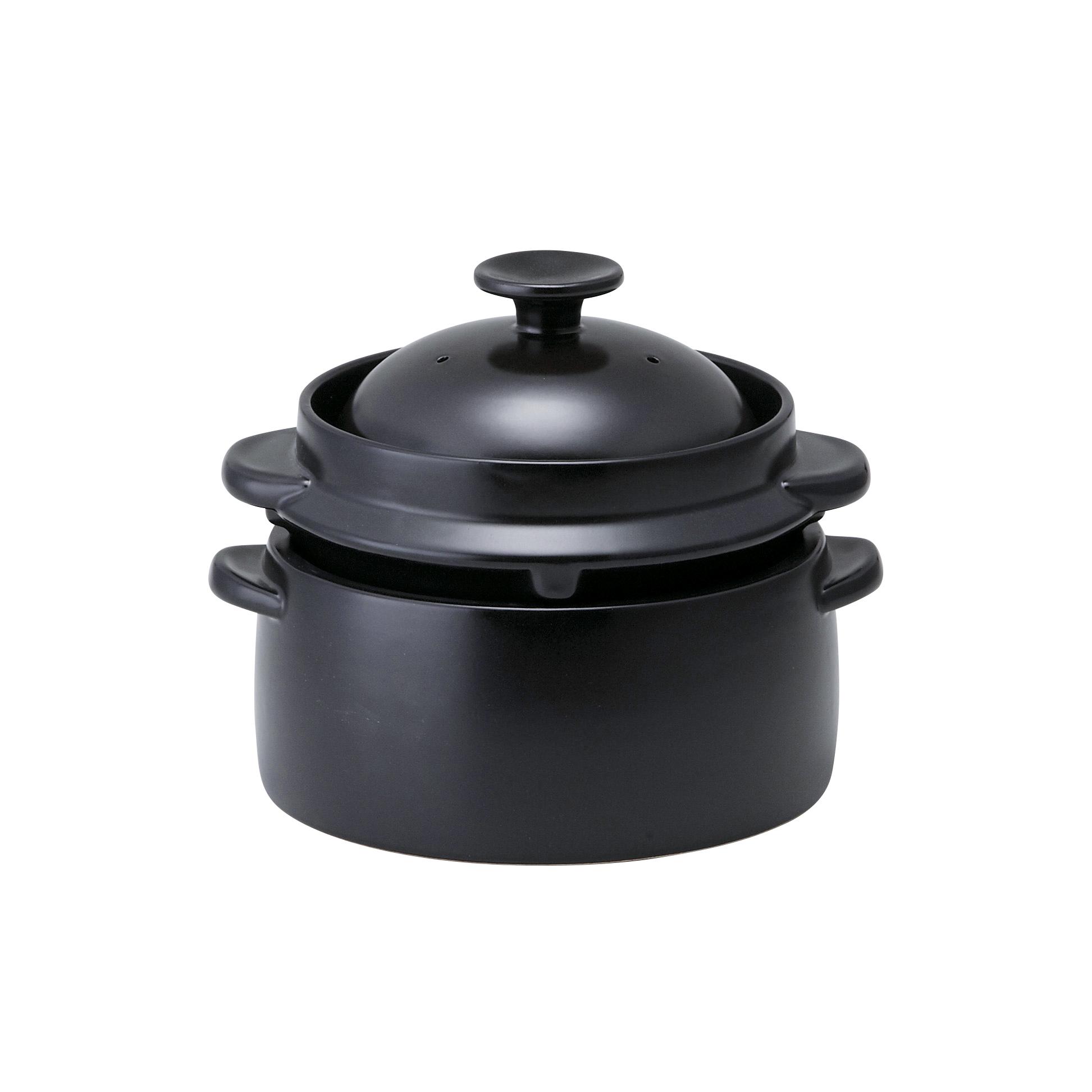 【クリヤマ】かまどご飯釜4合炊き