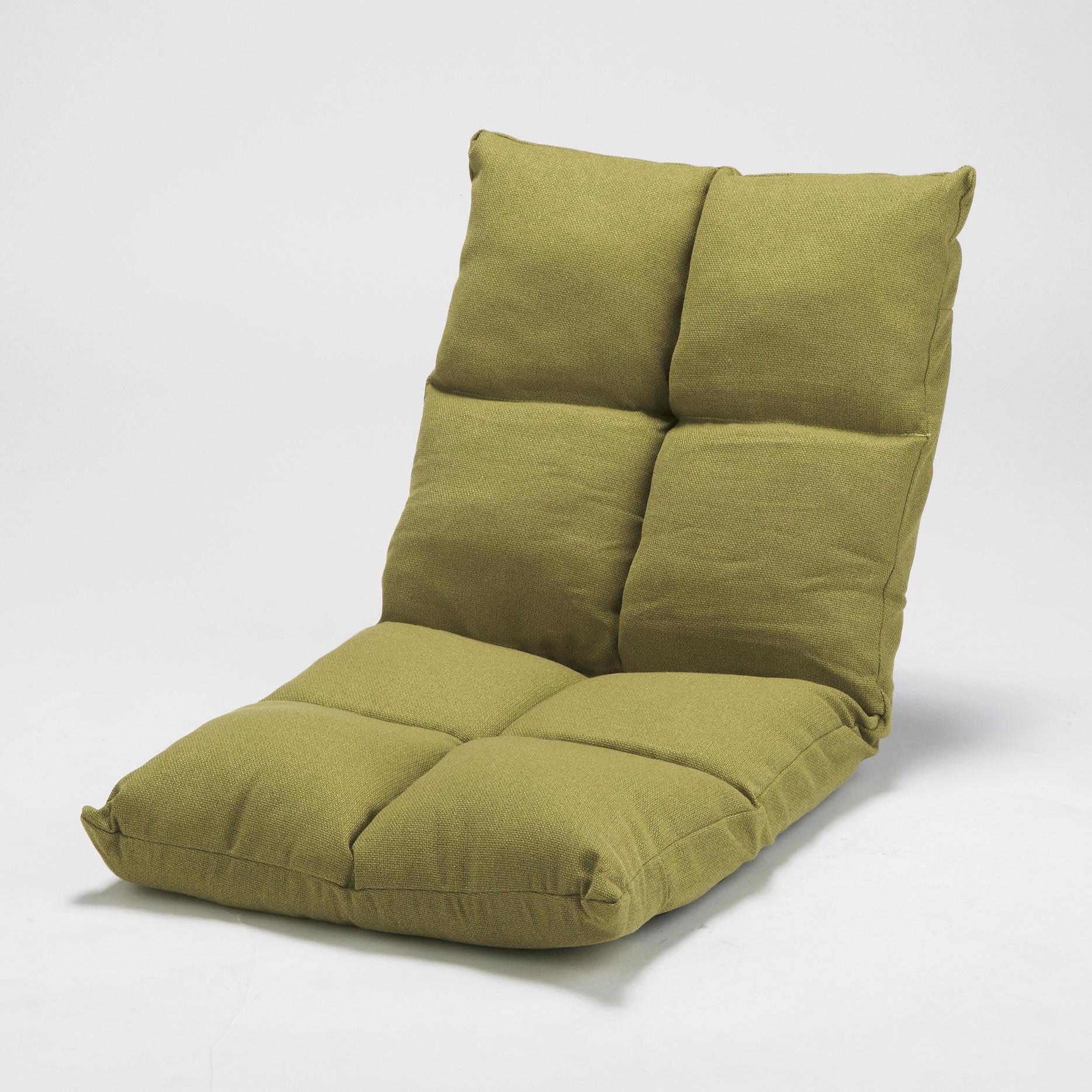 高反発リクライニング座椅子 グリーン