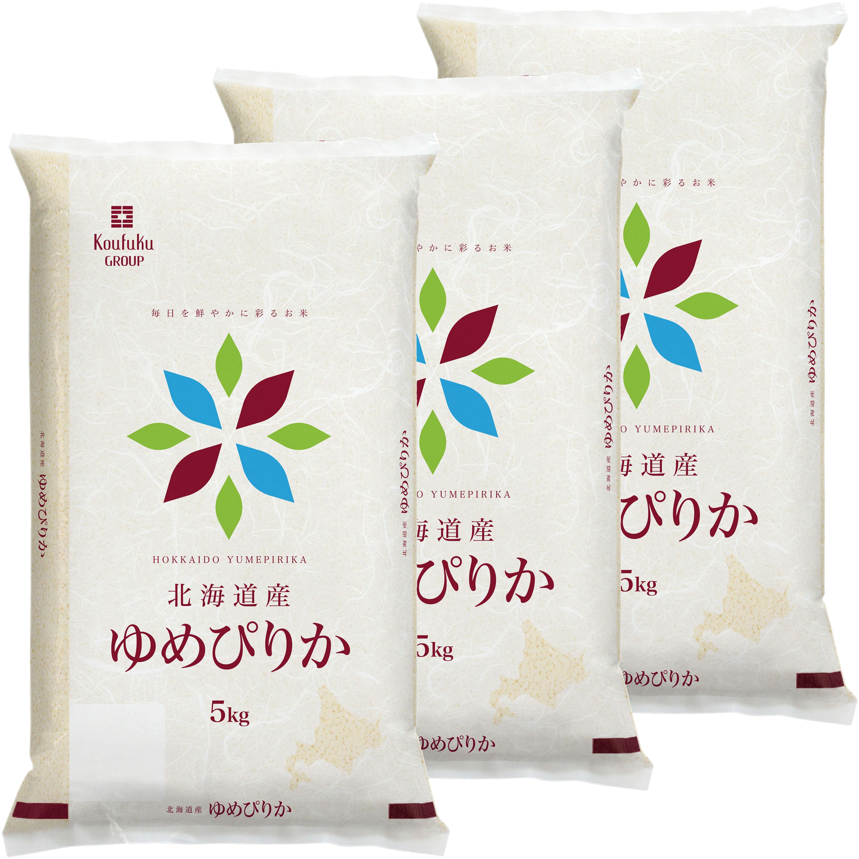 【北海道】北海道産ゆめぴりか 5kg×3セット