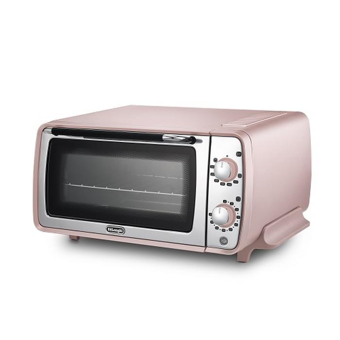 【デロンギ】ディスティンタ・ペルラ コレクションオーブン&トースター 幅435×奥345×高さ220mm ピンク