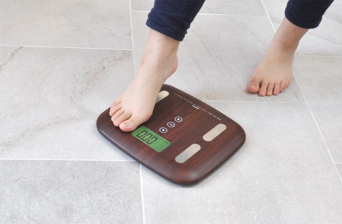 【ドリテック】体重体組成計 ダークウッド