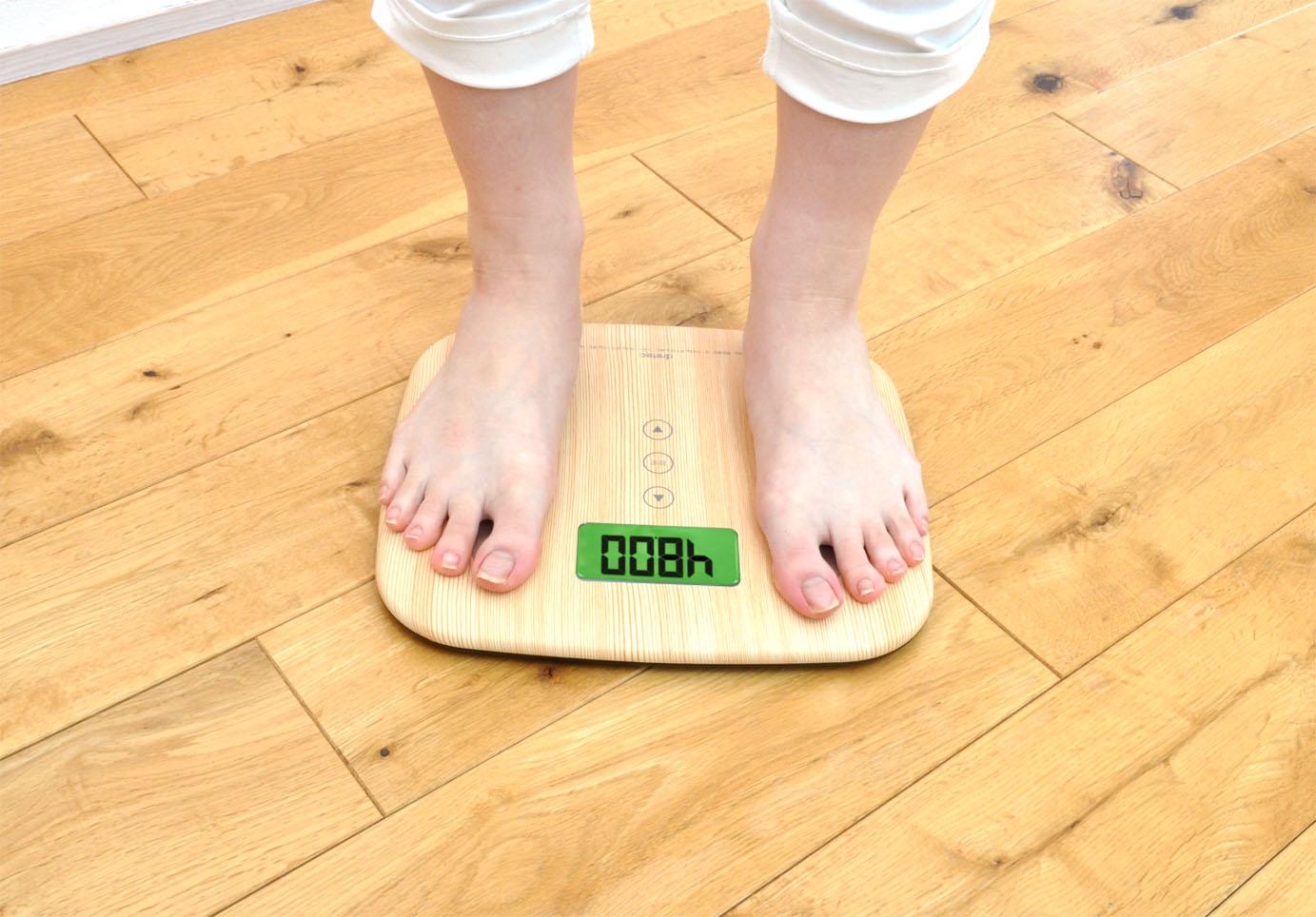 【ドリテック】体重体組成計 ナチュラルウッド