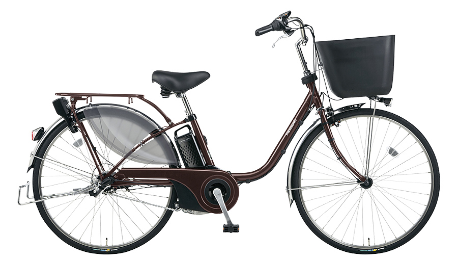 【パナソニック】電動アシスト自転車 ビビ・EX 24インチ ビターブラウン