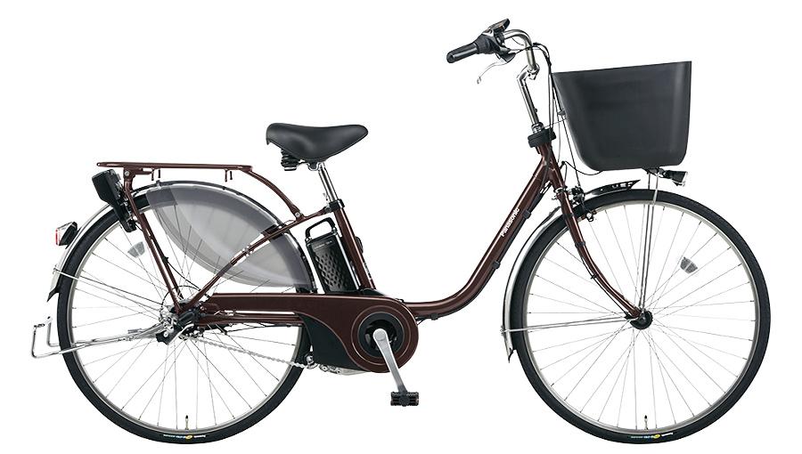 【パナソニック】電動アシスト自転車 ビビ・EX 26インチ ビターブラウン