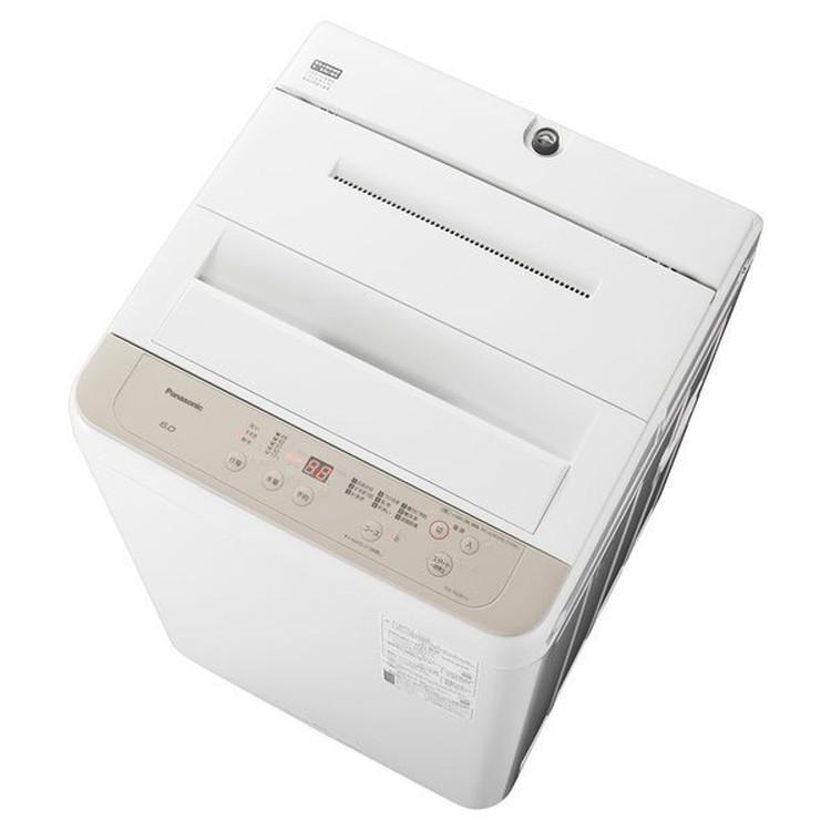 【標準設置対応付】パナソニック NA-F60B14-C 全自動洗濯機 6kg ニュアンスベージュ