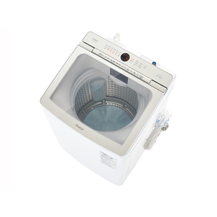 【標準設置対応付】AQUA AQW-VX12M(W) Prette プレッテ 簡易乾燥機能付き洗濯機 12.0kg