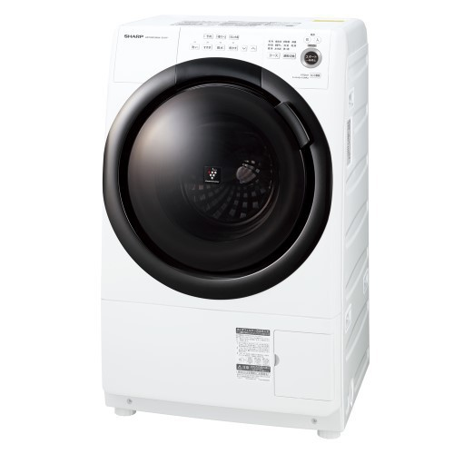 【標準設置対応付】シャープ ES-S7F-WLドラム式プラズマクラスター洗濯乾燥機 洗濯7kg 左開き ホワイト系