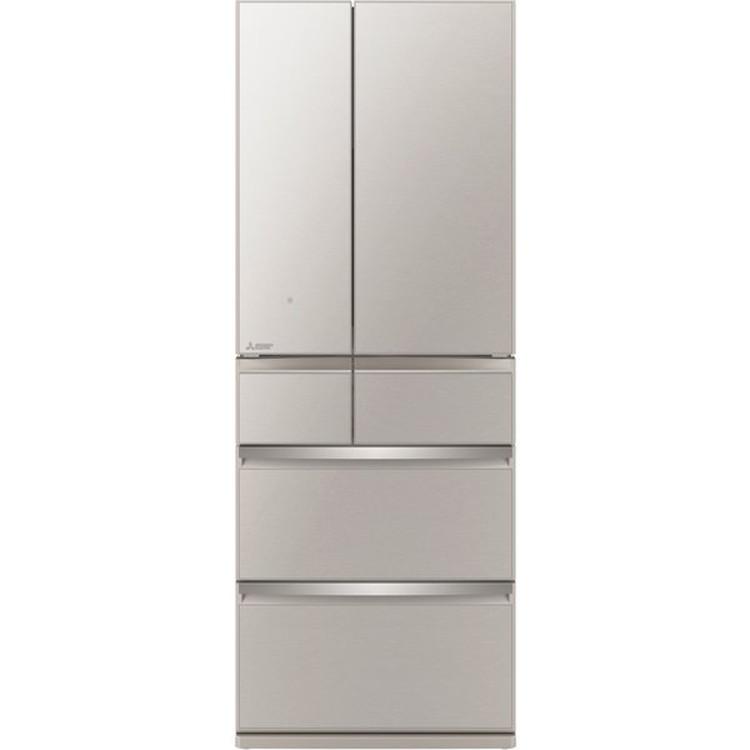 【標準設置対応付】三菱電機 MR-WX60G-C 冷蔵庫(600L・フレンチドア) 6ドア グレイングレージュ