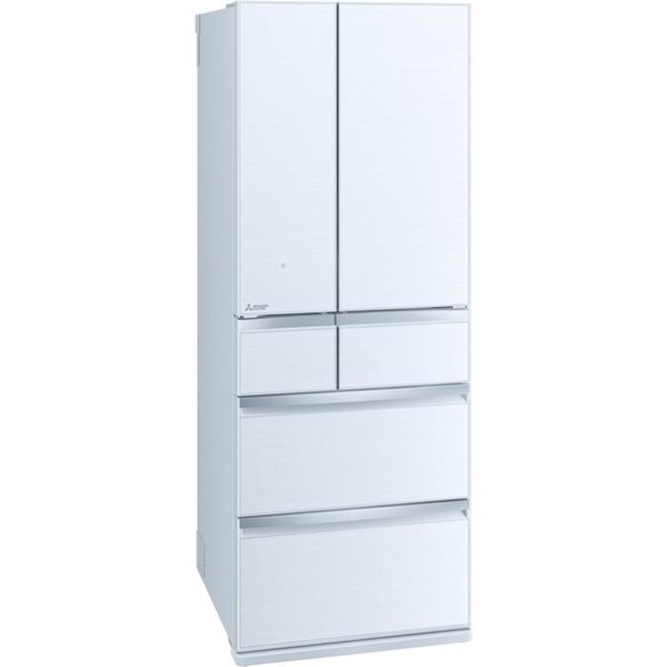 【標準設置対応付】三菱電機 MR-WX60G-W 冷蔵庫(600L・フレンチドア) 6ドア クリスタルホワイト