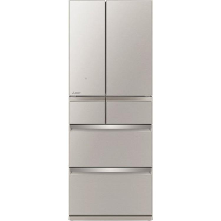 【標準設置対応付】三菱電機 MR-WX47LG-C 冷蔵庫(470L・フレンチドア) 6ドア WXシリーズ グレイングレージュ