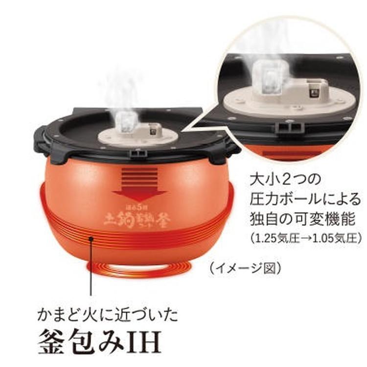 【タイガー】 JPI-H100 TD 圧力IHジャー炊飯器 炊きたて 5.5合炊き ダークブラウン