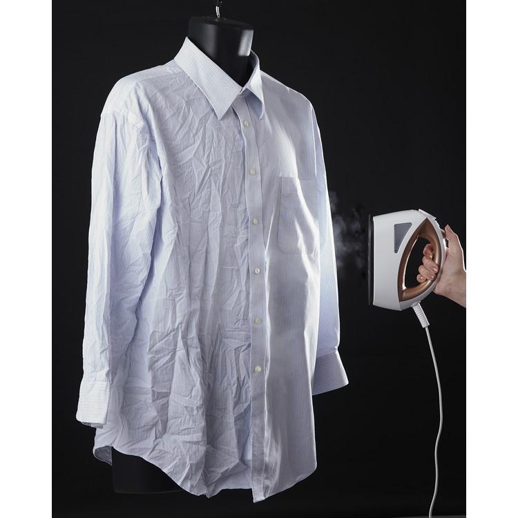 【髙儀】衣類スチーマー 約幅8×奥21×高さ14cm ホワイト