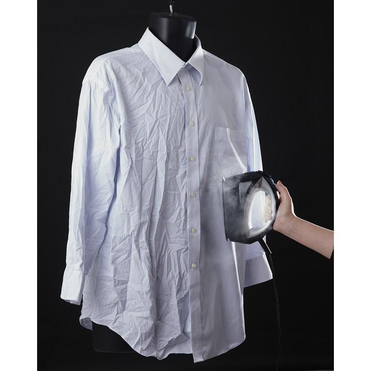 【髙儀】衣類スチーマー 約幅8×奥21×高さ14cm ブラック