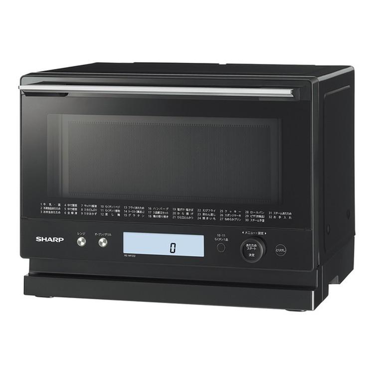 【シャープ】 RE-WF232-B 過熱水蒸気オーブンレンジ PLAINLY 23L ブラック系