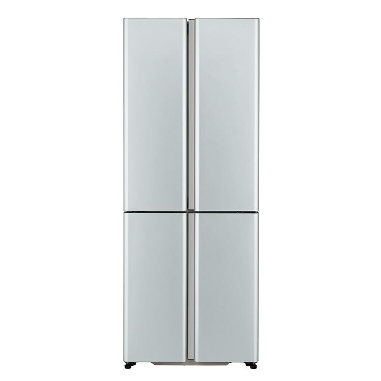【標準設置対応付】アクア AQR-TZ42K(S) 薄型大容量冷蔵庫(420L・両開き4ドア)サテンシルバー