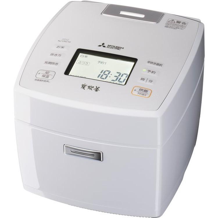 【三菱電機】 NJ-VXC10-W IHジャー炊飯器 5.5合炊き 炭炊釜(5層厚釜) 月白