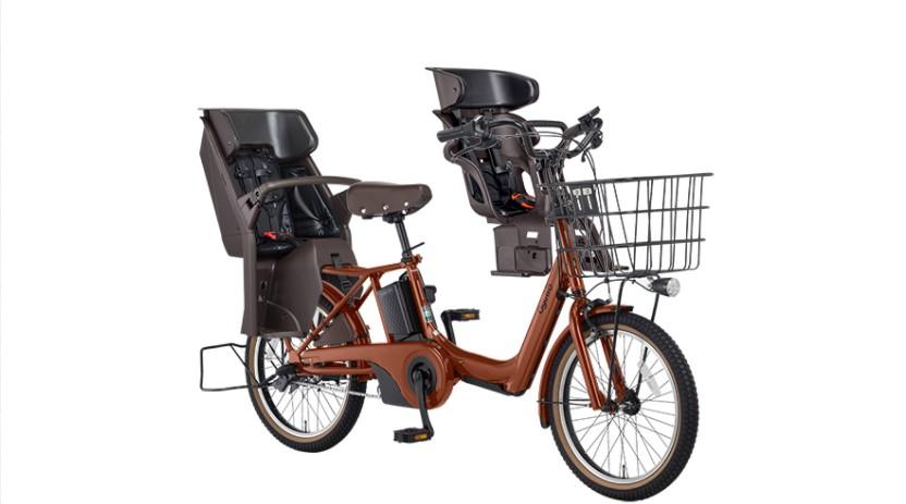 【パナソニック】BE-ELAD032 ギュットアニーズ 20インチ 3人乗り用電動アシスト自転車 マットフォースブラウン
