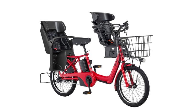 【パナソニック】BE-ELAD032 ギュットアニーズ 20インチ 3人乗り用電動アシスト自転車 ロイヤルレッド