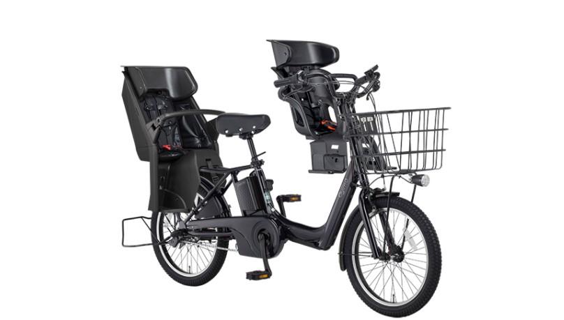 【パナソニック】BE-ELAD032 ギュットアニーズ 20インチ 3人乗り用電動アシスト自転車 マットジェットブラック