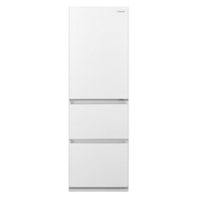 【標準設置対応付】パナソニック NR-C372GN-W 冷蔵庫365L・右開き 3ドア ガラスドア スノーホワイト